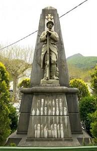 Seix. Le Monument aux morts autrefois