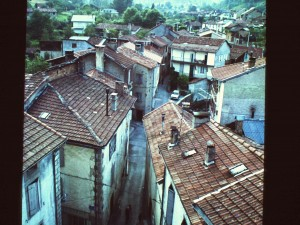 Seix. la rue du Roy vue du clocher