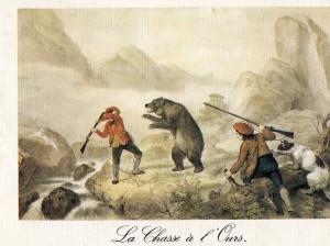 La chasse à l'ours dans les Pyrénées