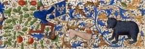 Chasse à l'ours. miniature de Froissart