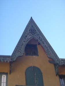 La Pagode, détail du toit
