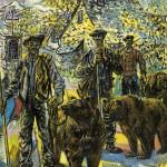 Les montreurs d'ours.Hst