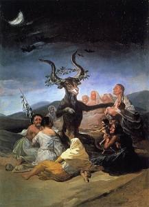 F. de Goya y Lucientes,le sabbat des sorcières
