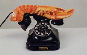 S Dali. Le telephone-homard