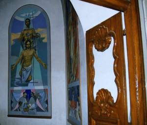 Entrée des fonts Baptismaux de l'église St Etienne