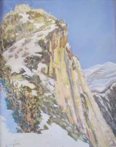 Le précipice du château du Mirabat