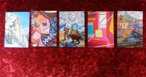 Cartes postales en vente au château