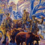Les montreurs d'ours, Huile sur toile, René Gaston-lagorre