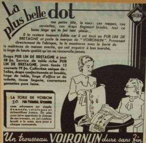 publicité pour trousseau