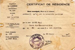 Le certificat de résidence