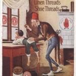 publicité pour le fil de lin