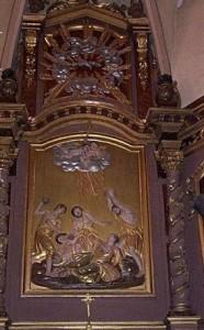 Seix. Eglise St Etienne. La lapidation de St Etienne
