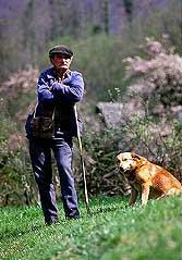 Francis Chevillon et son chien