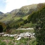 Salau. Les fondations de l'ancienne chapelle de Saint-Jean