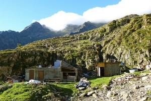 Pouilh. la cabane détruite par l'avalanche