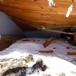 Pouilh. La cabane détruite