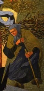 R. Gaston-Lagorre, L'hiver, huile sur toile, détail