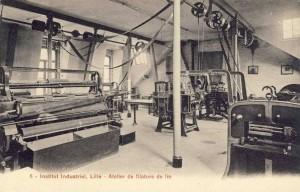 atelier de filature du lin