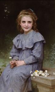 W.-A.Bouguereau, Daisies,1894.