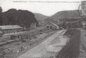 Saint Girons.Travaux ferroviaires