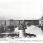 Saint Girons. Nouveau pont de chemin de fer