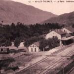 Ax-les-Thermes.gare vue intérieure et château d'eau