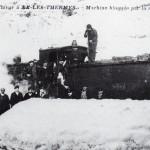 Ax les Thermes. Train bloqué par la neige