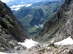 Vue plongeante depuis le Col  de Faustin
