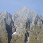 Le Mont Valier. La face Est du Mt Valier