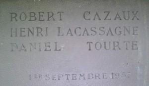 Plaque commémorative Cabane d'Aula