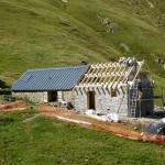Reconstruction de la cabane d'Aula