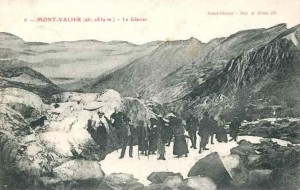 Sur le glacier en 1900