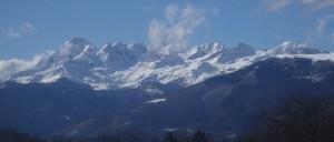 1La chaîne et le massif du Mt Valier vus depuis Soulan déc.2014