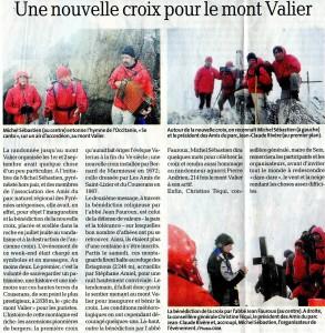 Inauguration de la nouvelle croix du Mont Valier en 2012