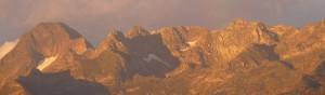 2Chaîne et massif du Mt Valier vus depuis Soulan sept.2014