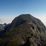 Le sommet Valier. Au premier plan la cime du Petit Valier