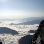 Mont Valier. Mer de nuages vue du sommet