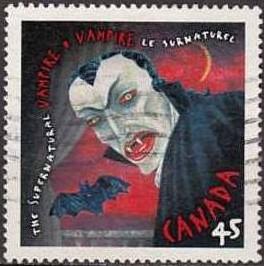 Représentation de Dracula. Timbre canadien