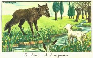 Lou loup e l'Agnet. Ill. Calvet Rogniat