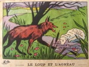 Lou Loup e l'Agnet, imagerie scolaire