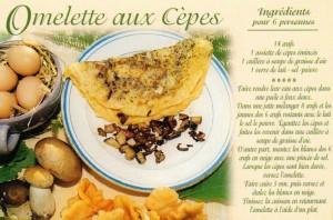 L'omelette aux cèpes.Recette