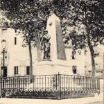 Seix. le monument aux morts avant son déplacement en 2005
