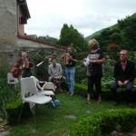 Lucette et les musiciens