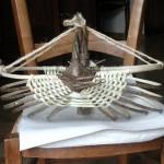 Fabrication d'un panier de noisetier