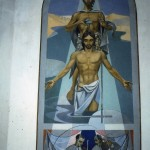 Seix. Fonts baptismaux.Le baptême du Christ