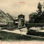 Foix. Arrivée train sous la neige