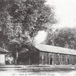 Saint Girons. L'ancienne gare en bois