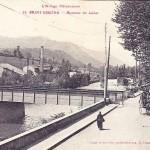 Saint Girons.Pont de chemin de fer sur le Lez