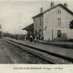 Castelnau-Durban. La gare