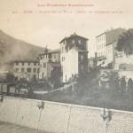 Foix. Départ d'un train vers Ax-les-Thermes